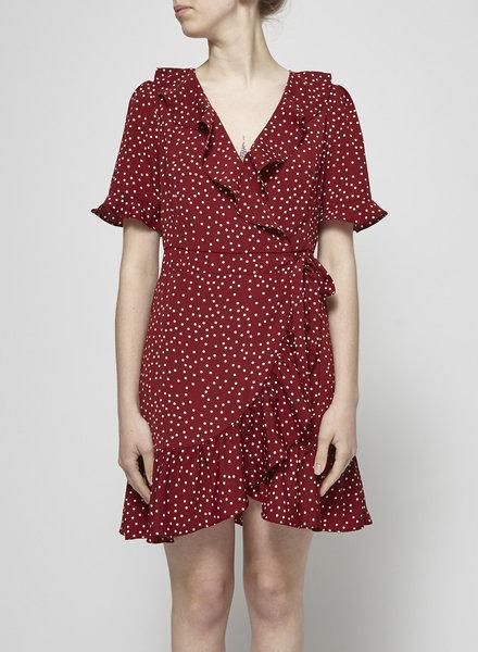 Heartloom RED POLKA-DOT WRAP DRESS