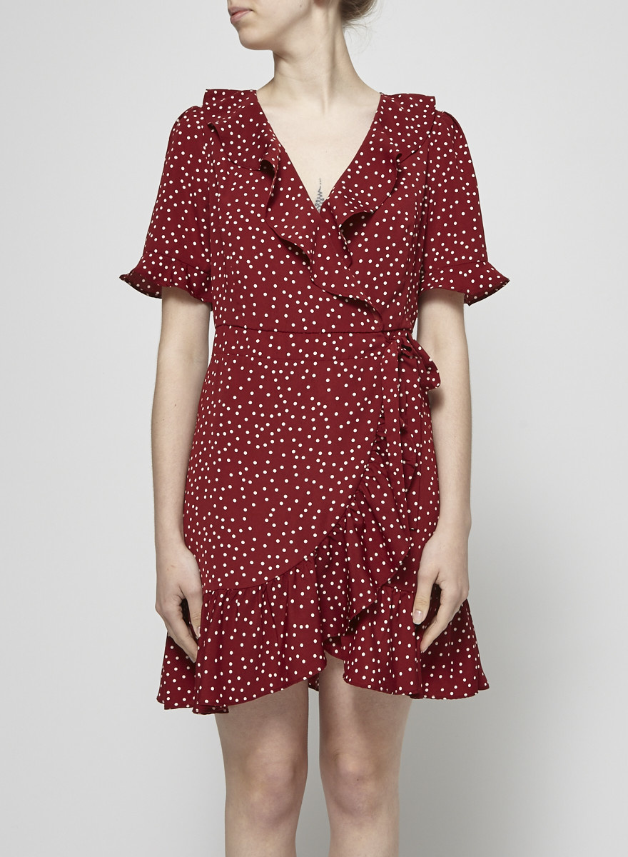 Heartloom Red Polka-Dot Wrap Dress