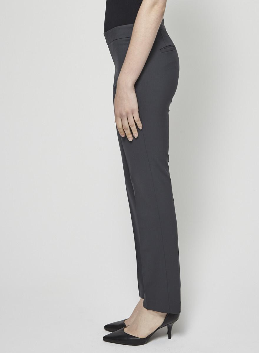 Theory Pantalon classique fuselé gris foncé
