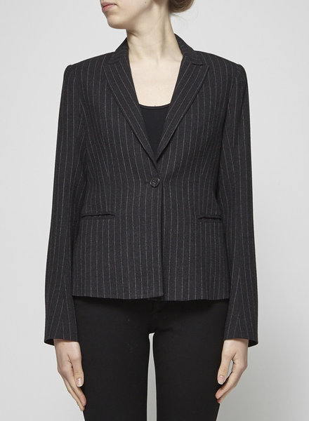 Theory DARK GRAY WOOLEN JACKET WITH PINSTRIPES