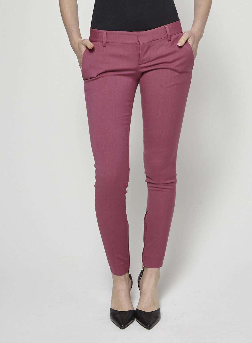 DSQUARED2 Pantalon classique skinny fuchsia