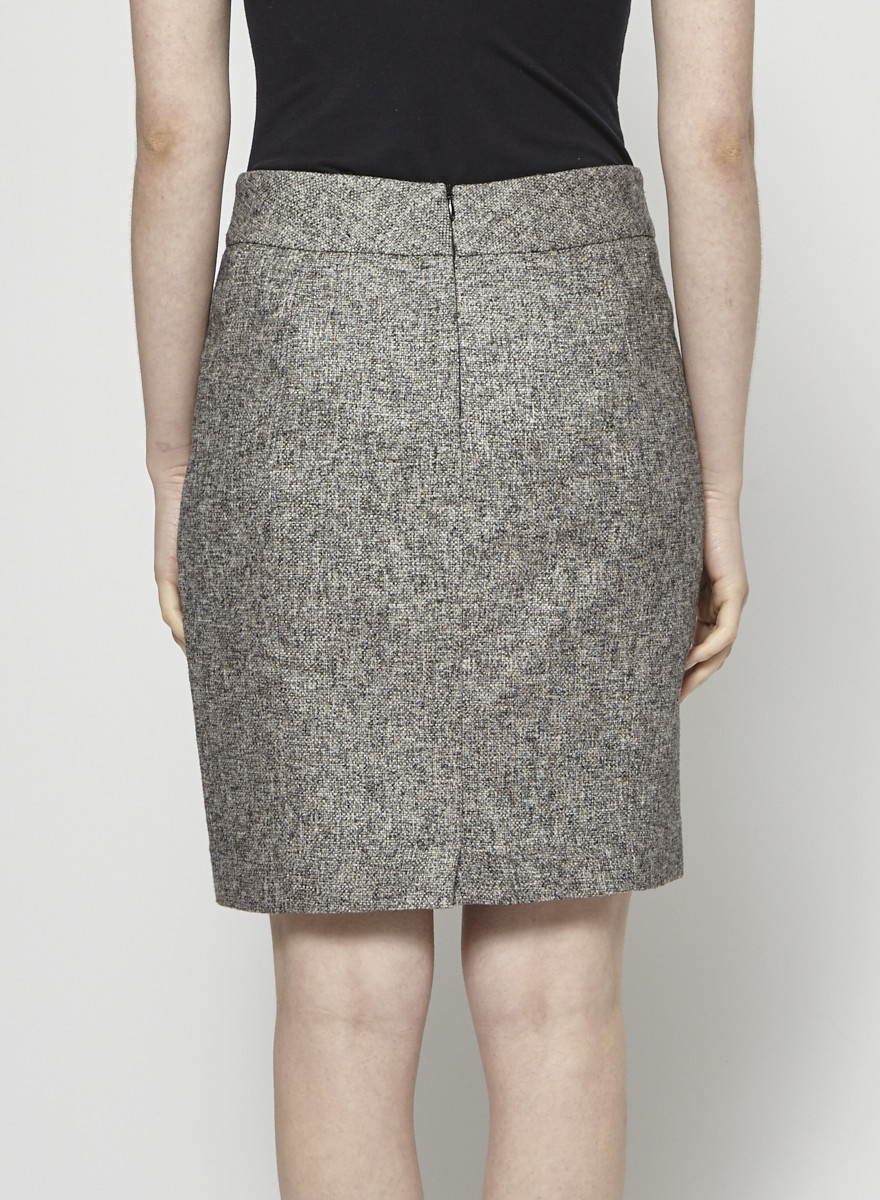 Judith & Charles Gray Tweed Skirt