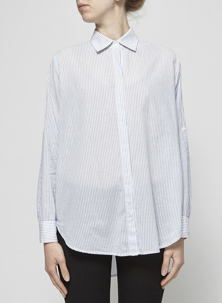 Rails LOOSE FIT WHITE AND BLUE STRIPED SHIRT