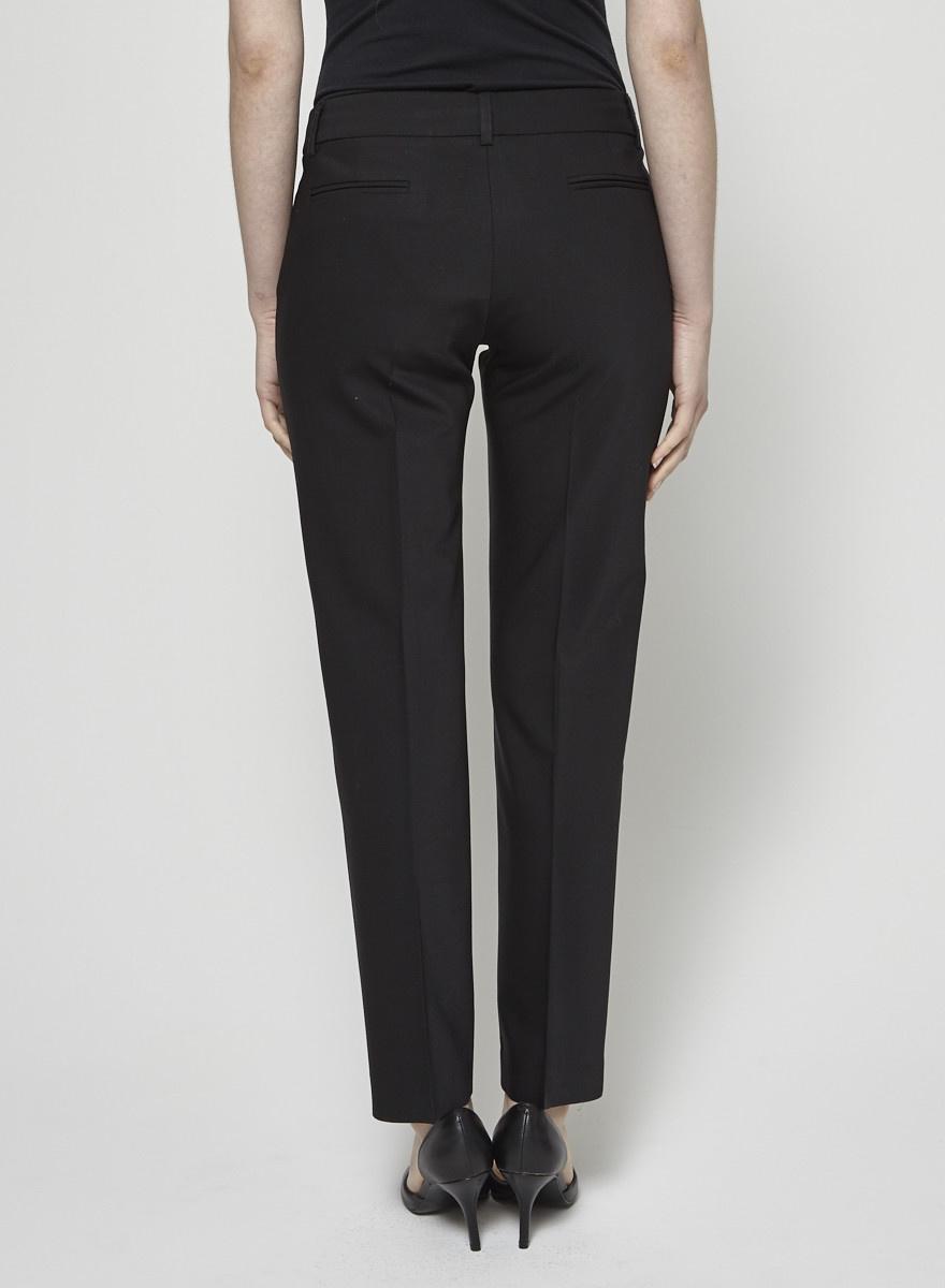 Tara Jarmon Pantalon tailleur noir en laine