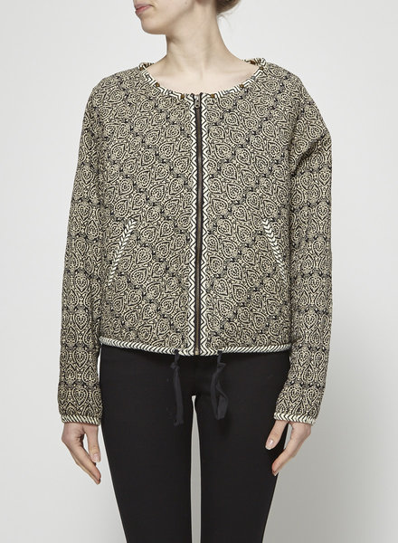 Scotch & Soda PATTERNED JACKET WITH SMALL STUDS AT THE COLLAR