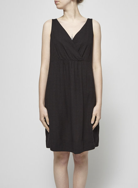 Eileen Fisher LINEN-BLEND BLACK DRESS