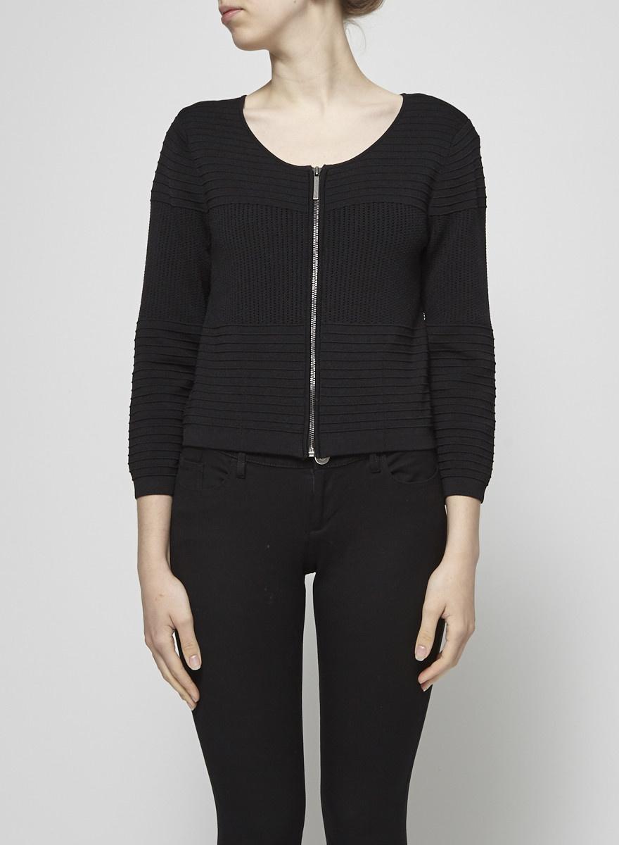 Catherine Malandrino Black Knitted Cardigan