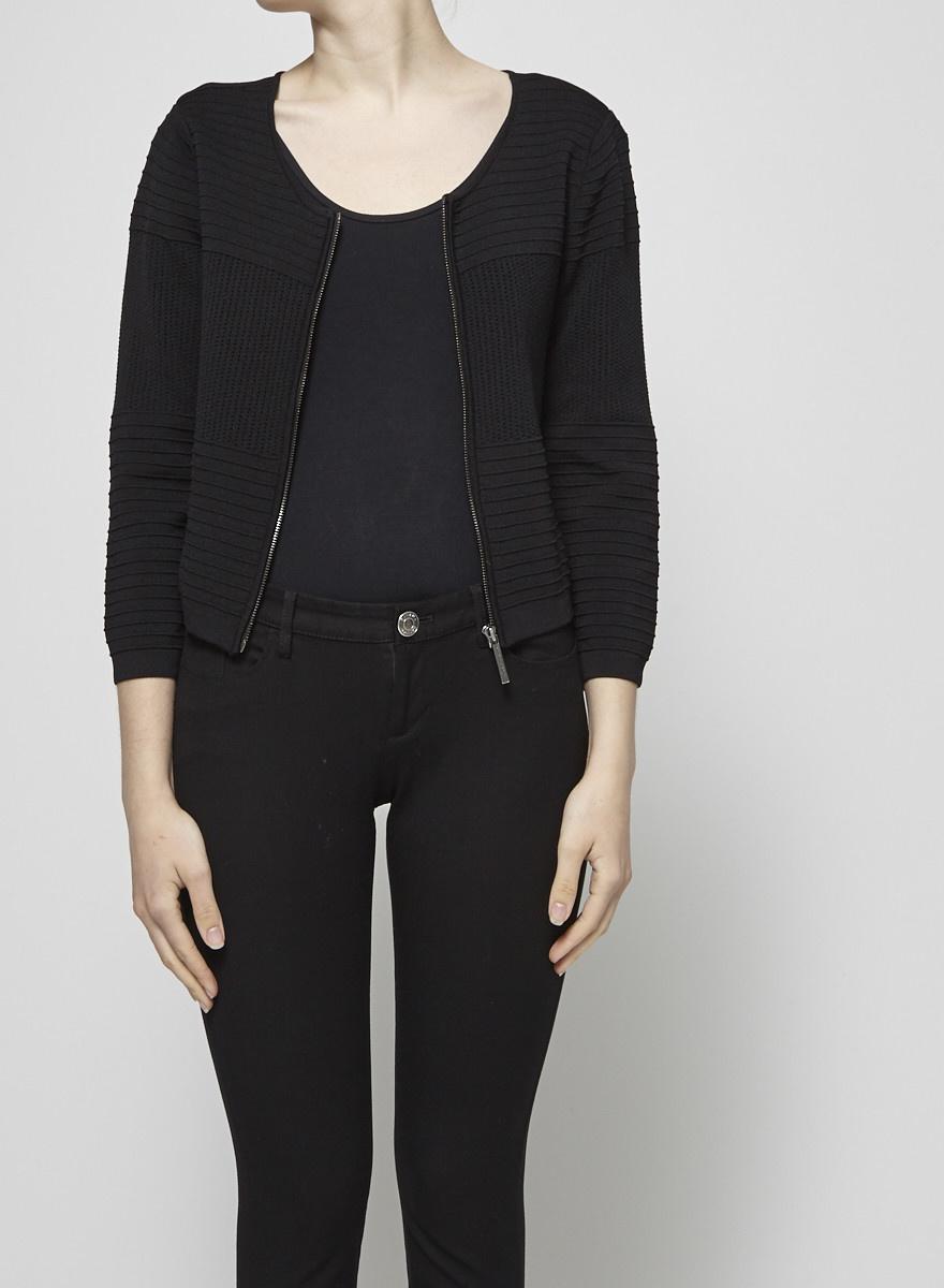 Catherine Malandrino Cardigan noir en tricot