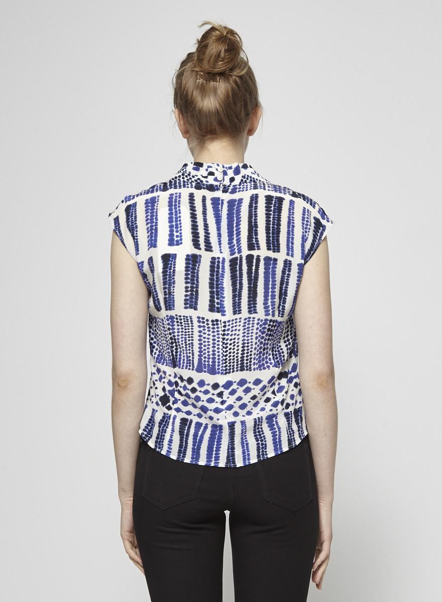 MaxMara Tie-Dye Silk Wrap Top