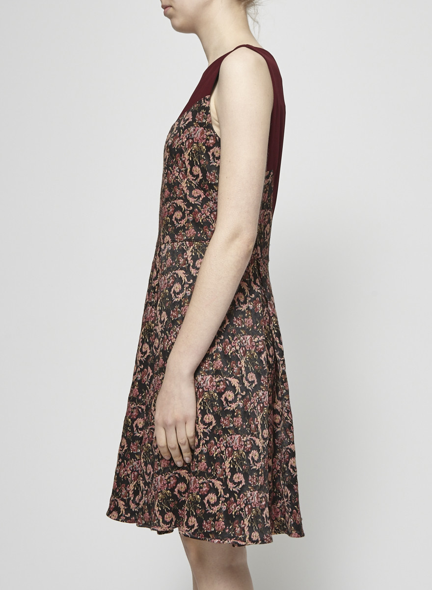 Annie 50 Burgundy Jacquard Dress