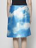 Michael Kors Collection Jupe plissée en soie ciel bleu