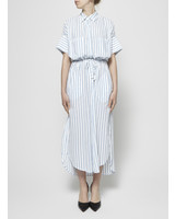 Faithfull The Brand BLUE AND WHITE STRIPES LONG DRESS