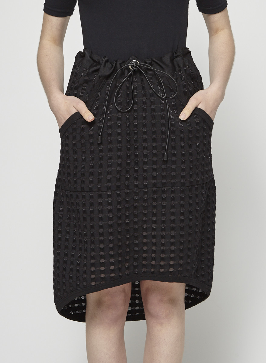 Black Skirt with Transparent Dots