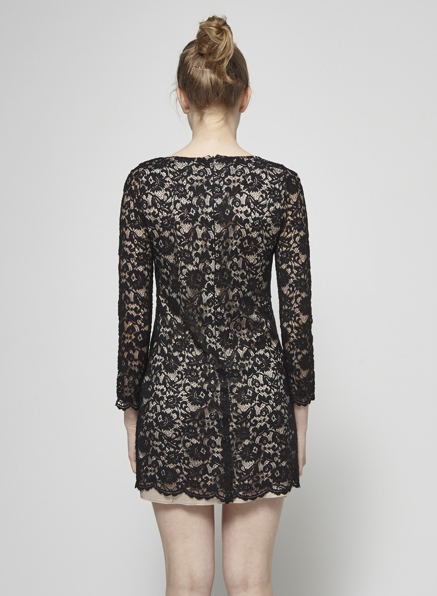 Imperial Black Lace Dress
