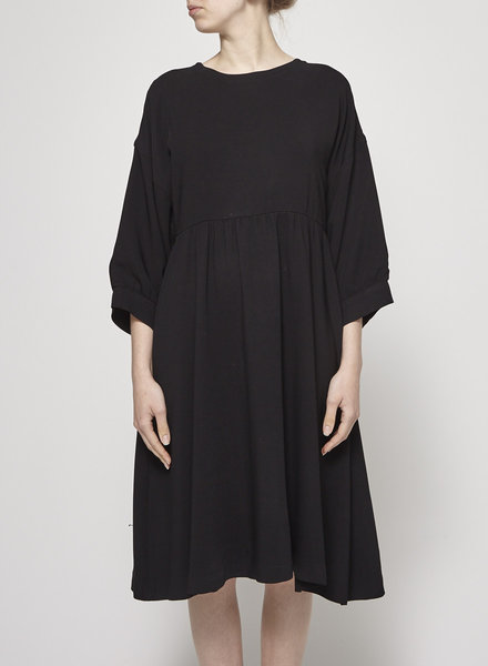Maison Kitsuné LOOSE FIT BLACK DRESS