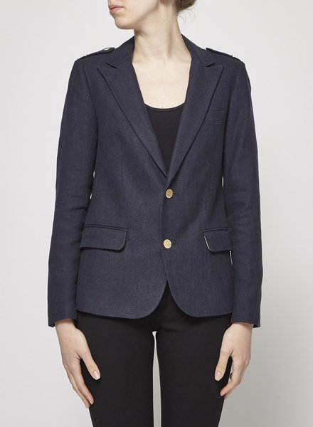 Zadig & Voltaire BLUE BLAZER WITH GOLD BUTTONS