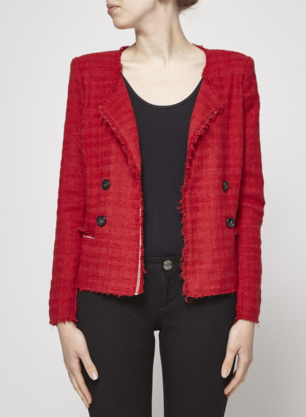 Isabel Marant Étoile VESTON COURT ROUGE STYLE EFFILOCHÉ