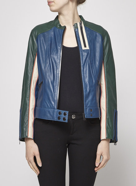 Zadig & Voltaire MULTICOLORED LEATHER JACKET - NEW WITH TAGS
