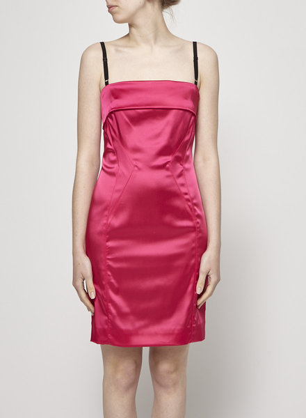 Dolce & Gabbana FUCHSIA SATIN DRESS - NEW
