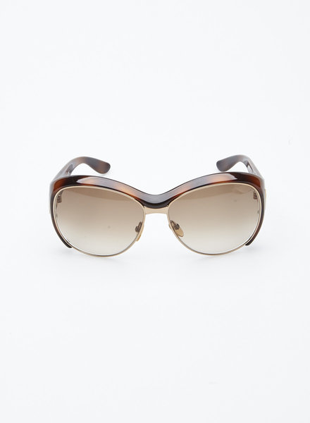 Tom Ford DOMINIQUE TORTOISE SUNGLASSES WITH GOLDEN FRAME