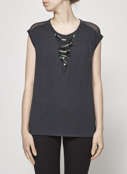 3.1 Phillip Lim GREEN TOP WITH SEQUINS