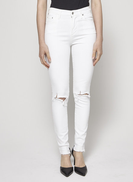 Citizens of Humanity HIGH RISE WHITE DISTRESSED JEANS