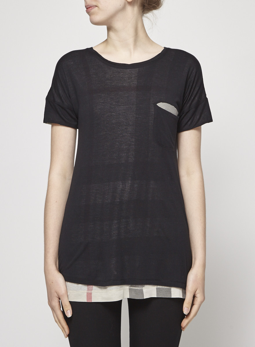 09d323d3 Black Checked T-Shirt - BURBERRY BRIT - DEUXIEME EDITION