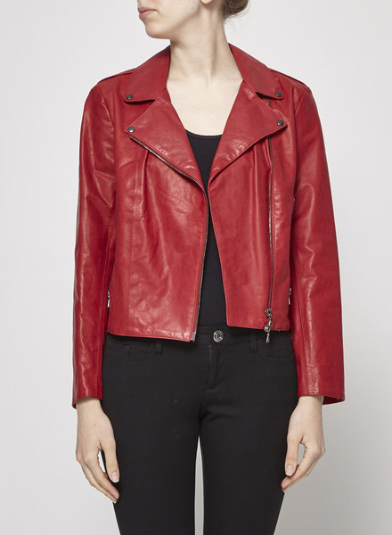 M0851 RED LEATHER JACKET