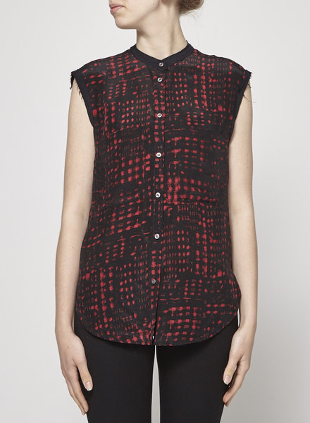 Isabel Marant Étoile SLEEVELESS BLACK & RED SHIRT