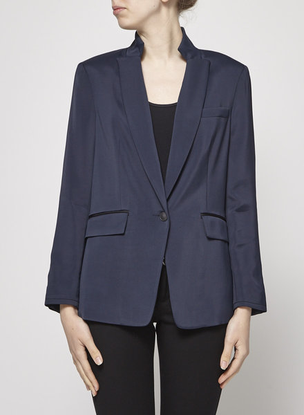 Rag & Bone GLOSSY NAVY BLUE JACKET