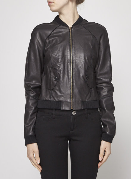 Band of Outsiders BLACK LEATHER JACKET