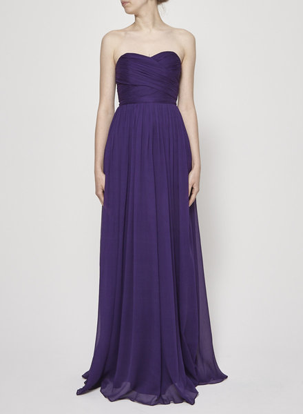 J.Crew PURPLE SILK CHIFFON CORSET DRESS - NEW