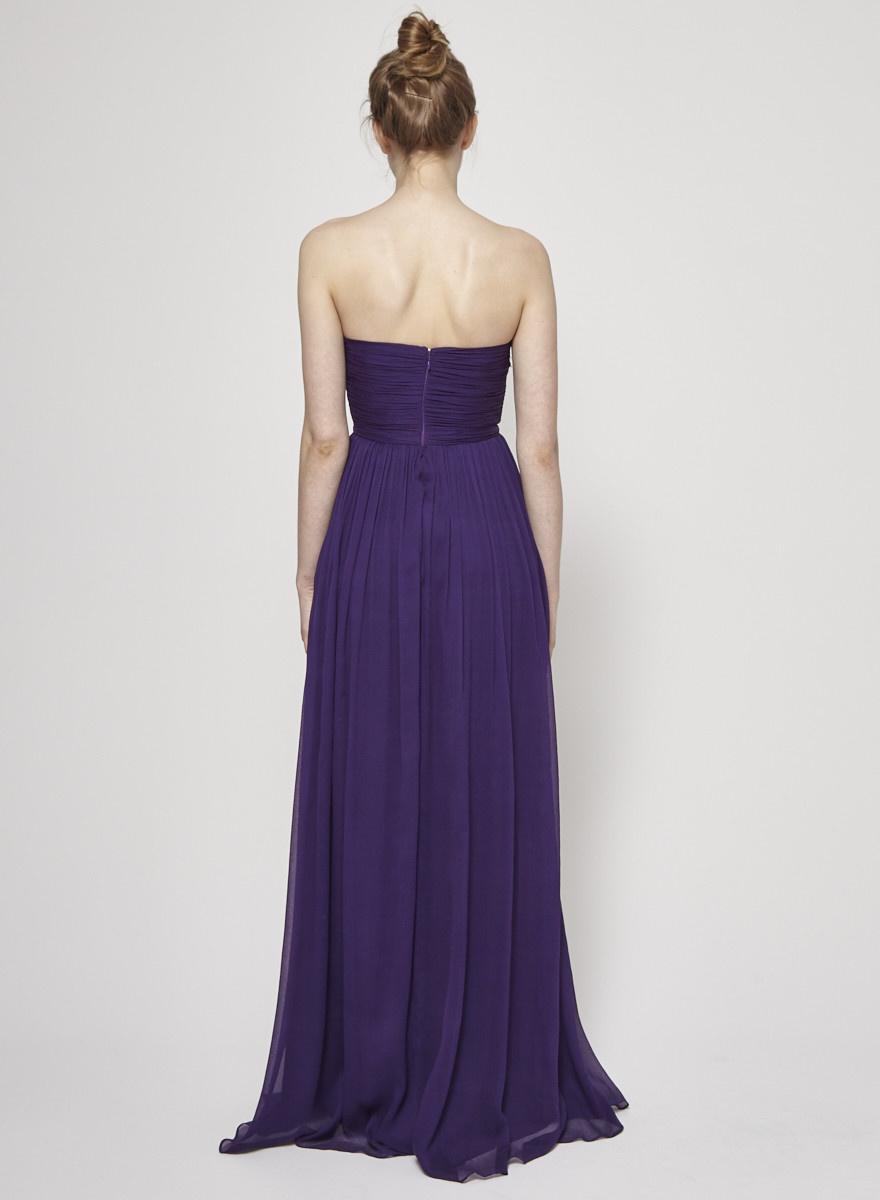 J.Crew Purple Silk Chiffon Corset Dress - New