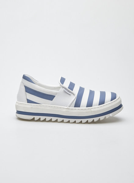 Paul & Shark BLUE AND WHITE CANVAS STRIPED SHOES