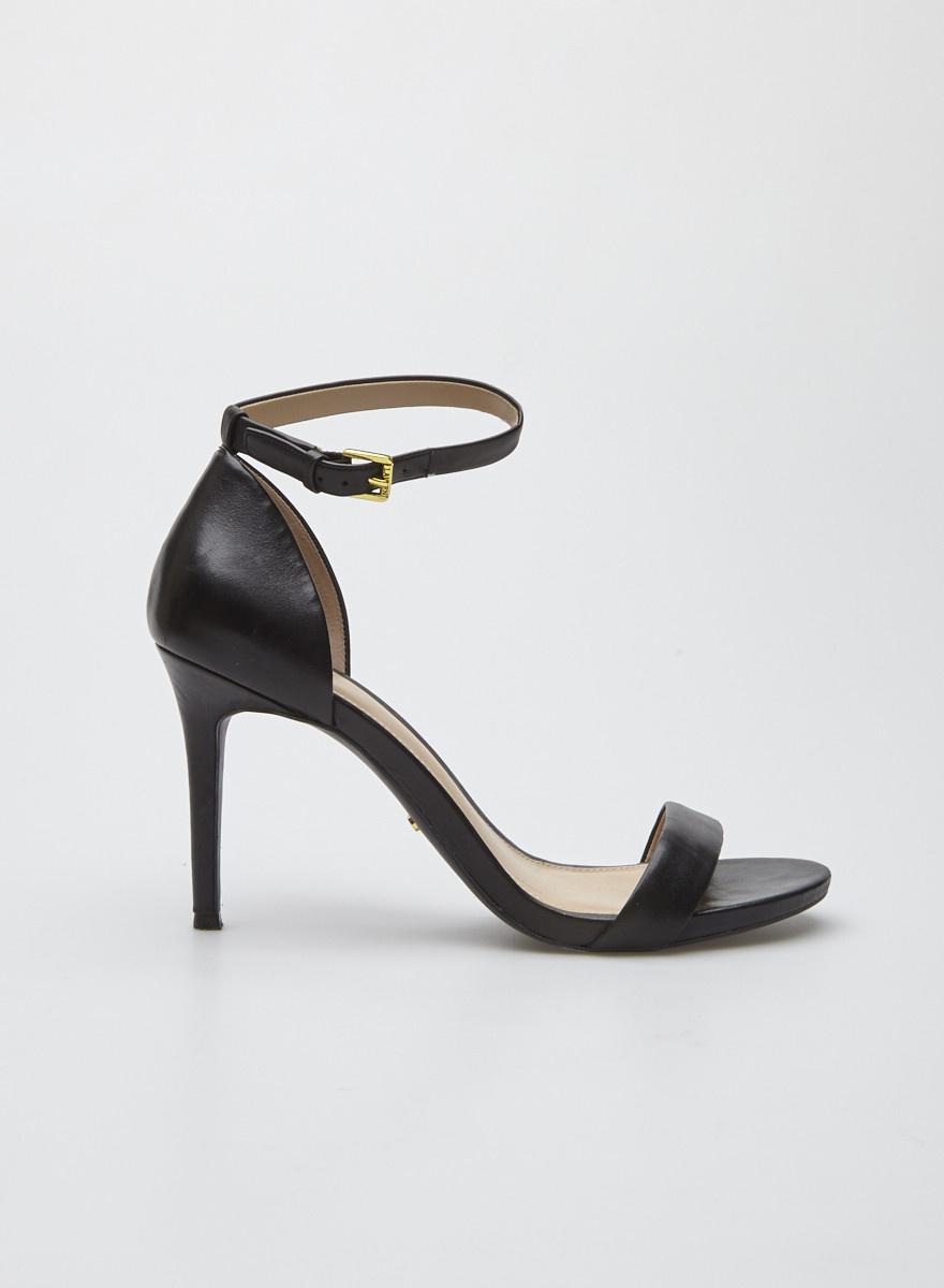 dde9cfc7a Black Leather Sandals - Lauren Ralph Lauren