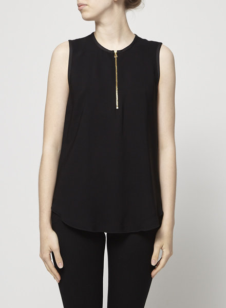 L'agence BLACK TOP WITH GOLD ZIPPER