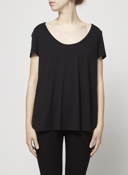 Burberry LOOSE BLACK T-SHIRT WITH SILK