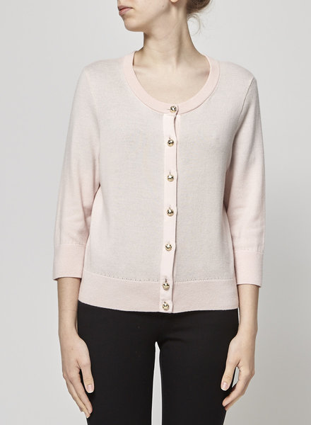 Kate Spade PINK WOOL CARDIGAN JEWELRY BUTTONS