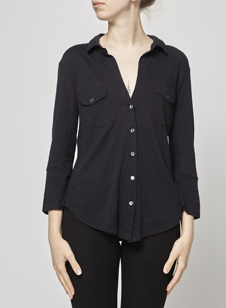 James Perse BUTTONED BLACK TOP