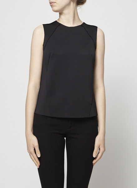 J Brand SLEEVELESS TEXTURED BLACK TOP - NEW WITH TAG