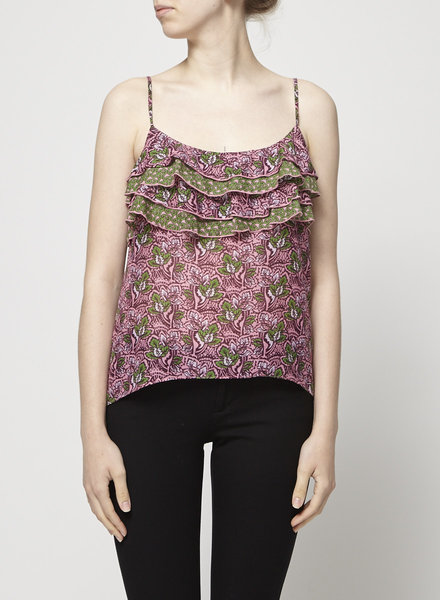 Velvet RUFFLED PRINTED TOP