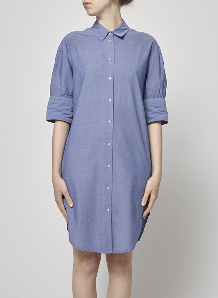 Scotch & Soda ROBE CHEMISE BLEUE EN COTON