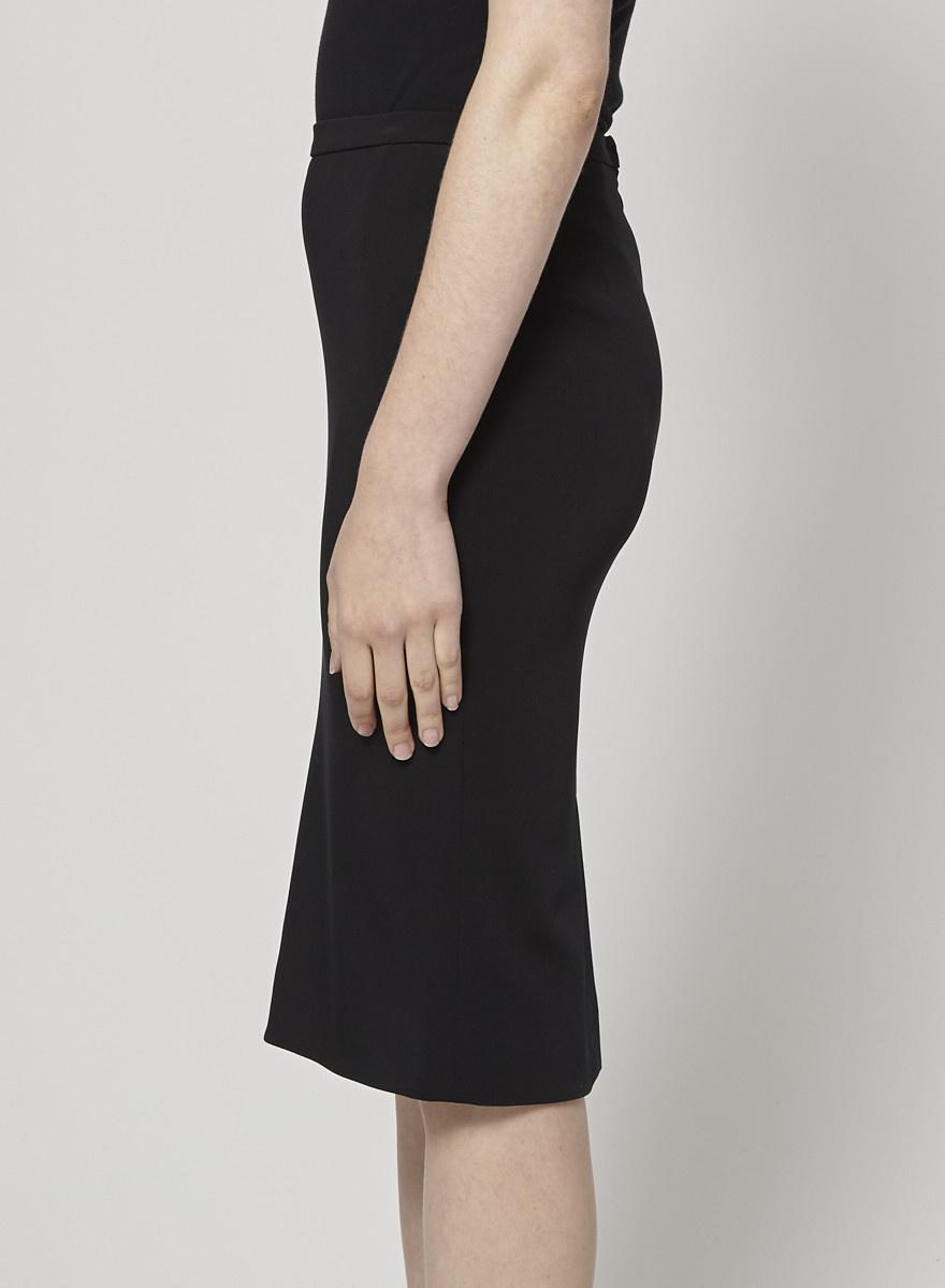 Dolce & Gabbana Black Straight Skirt