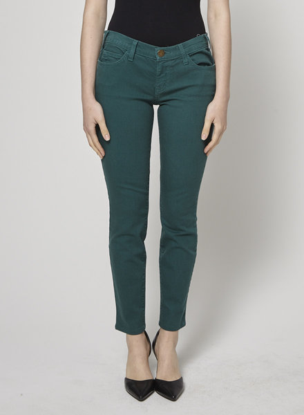 Current Elliott THE ANKLE SKINNY GREEN JEANS