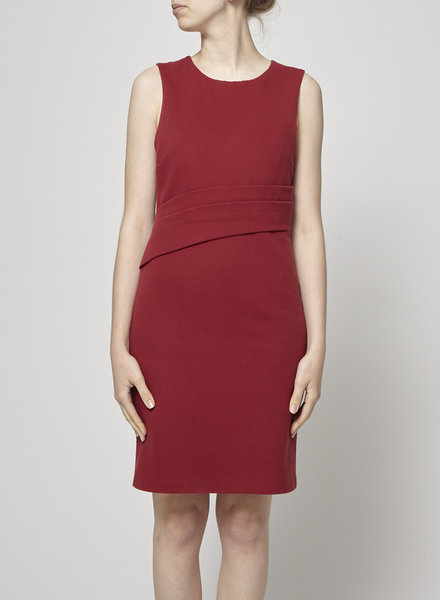 Judith & Charles RED FITTED DRESS