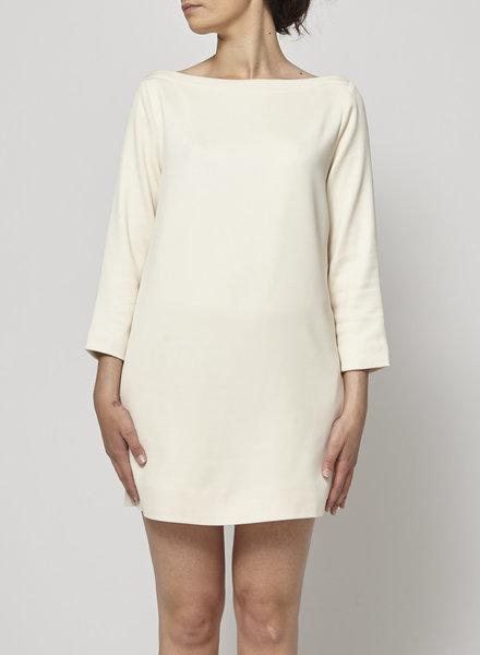 Elizabeth & James STRAIGHT WOOL OFF-WHITE DRESS