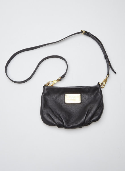 Marc by Marc Jacobs SMALL BLACK LEATHER HANDBAG