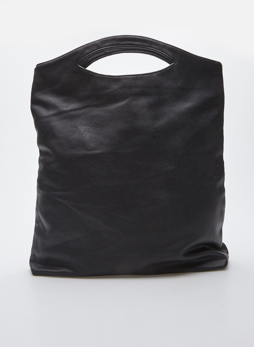 Mugler Black Soft Vegan Leather Handbag