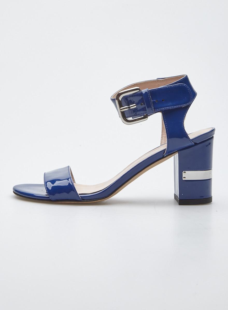 Stuart Weitzman Blue Patent Leather Sandals