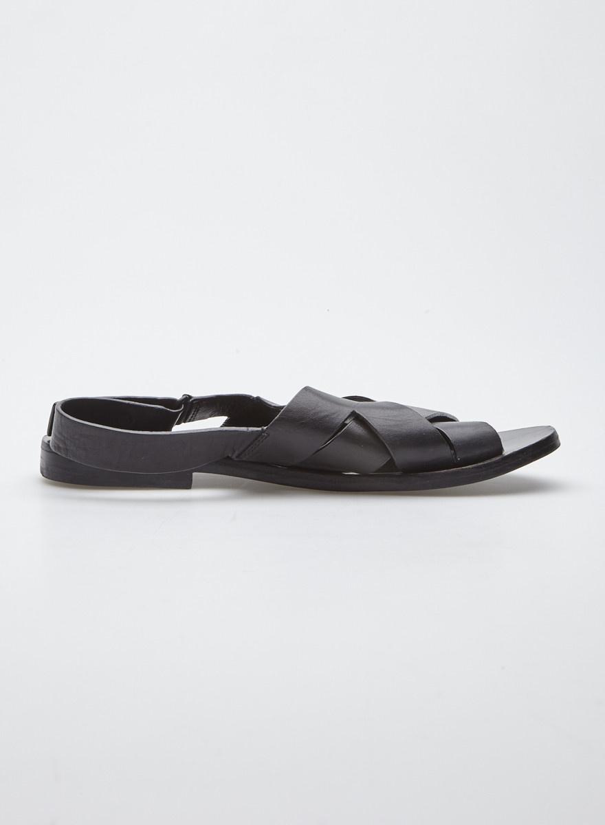 COS Black Leather Straps Sandals